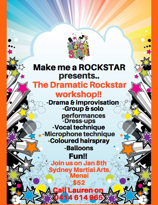 Dramatic Rockstar school holiday workshop