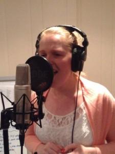 Lauren in studio