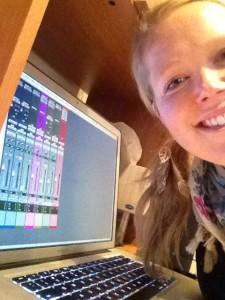 Lauren with computer