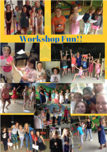 Workshop fun poster yellow