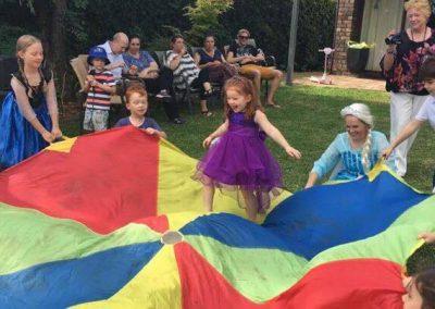 Elsa & the parachute