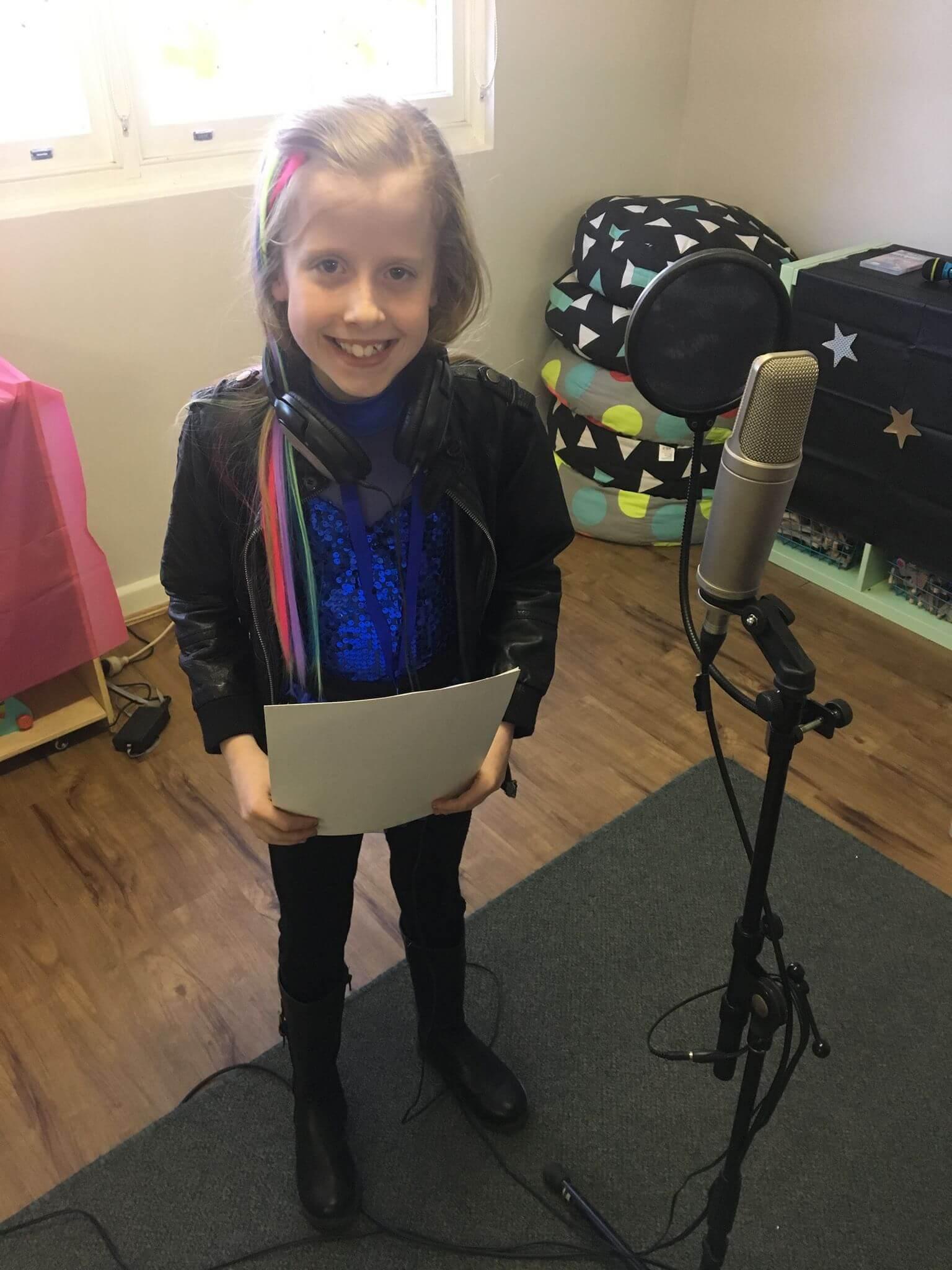 Recording birthday girl